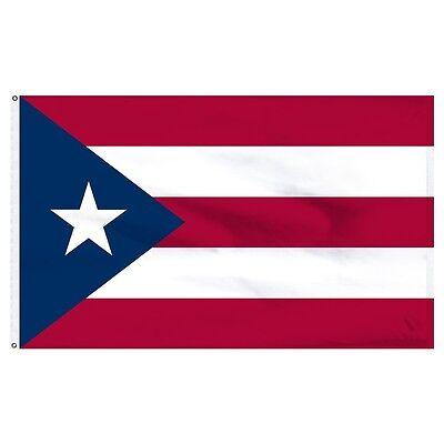 3x5 Puerto Rico Nylon / Poly Blend Flag 3'x5' Banner solid b