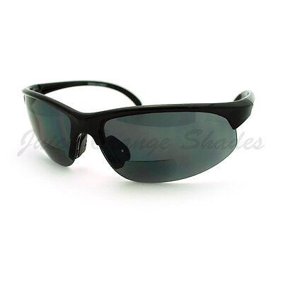 Mens Sunglasses with Bifocal Reading Lens Half Rim Sports (Sunglasses With Reading)