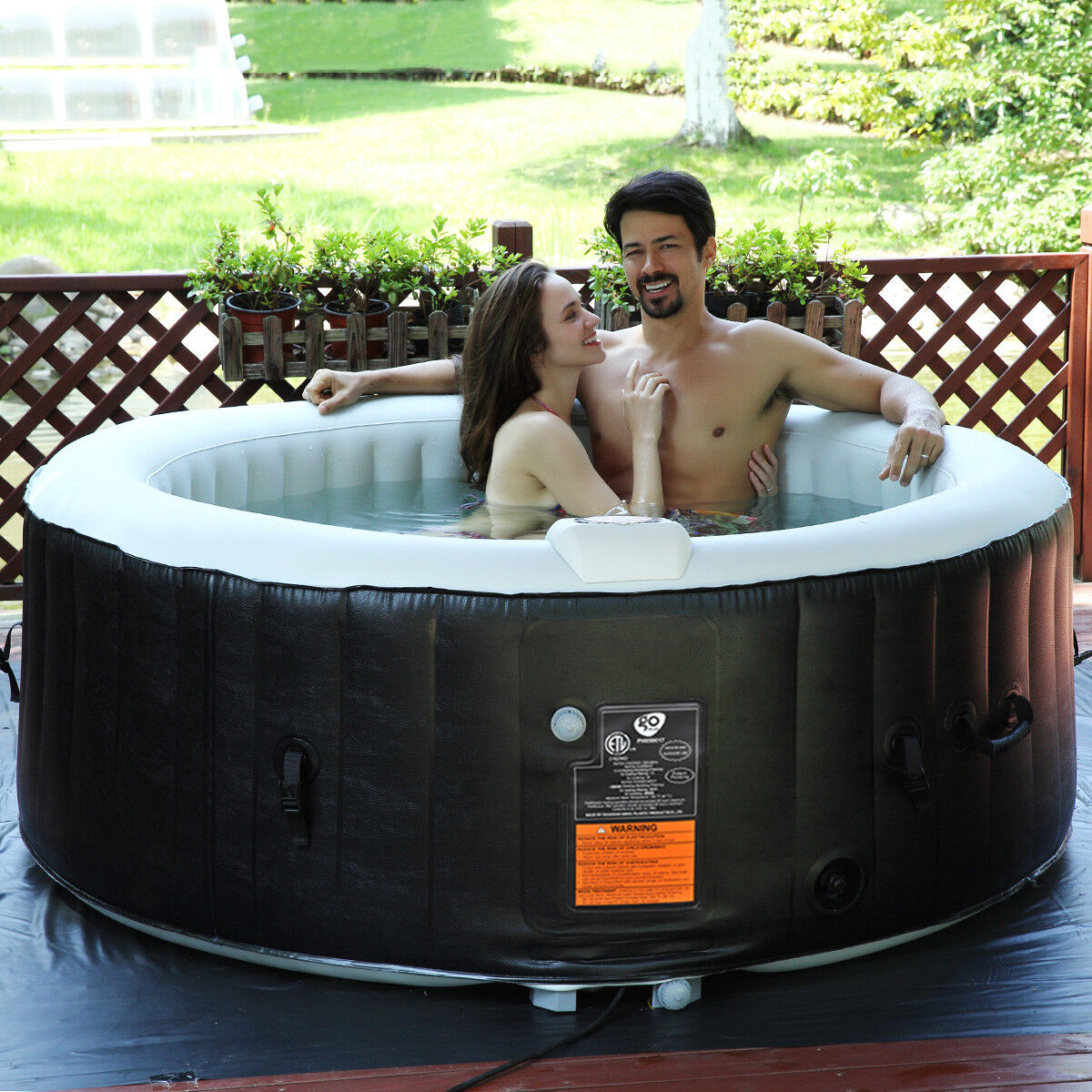 Whirlpool Aufblasbar Massage Spa Outdoor Indoor Pool 4