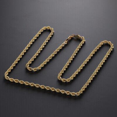 "9ct Gold Italian Classic Rope Chain - 24""  - 3.5mm RRP £290 - 0% FINANCE OPTION"