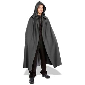 Grey Elven Cloak Adult Lord of the Rings Hooded Cape Fancy Dress Costume Acsry
