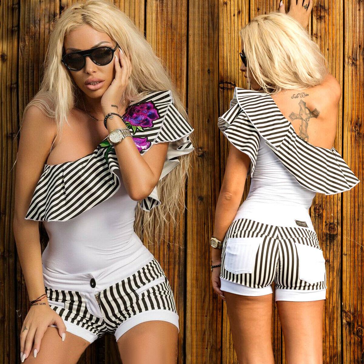 By Alina Damen Body Damenshirt Shirt Oberteil Top Damenbody 34-38  #C197