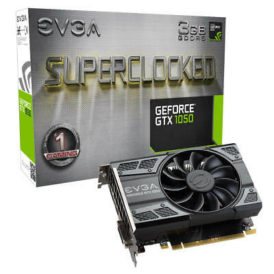 EVGA GeForce GTX 1050 SC GAMING, 3GB GDDR5, ACX 2.0 (Single Fan), 03G-P4-6153-KR
