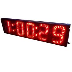 6'' 5Digit Large Digital Marathon Race Clock Horse Athletic LED Countdown Timer