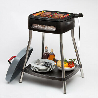 Electric Grill Barbecue BBQ Non Stick Hot Plate/Griddle Garden Patio RRP £150+