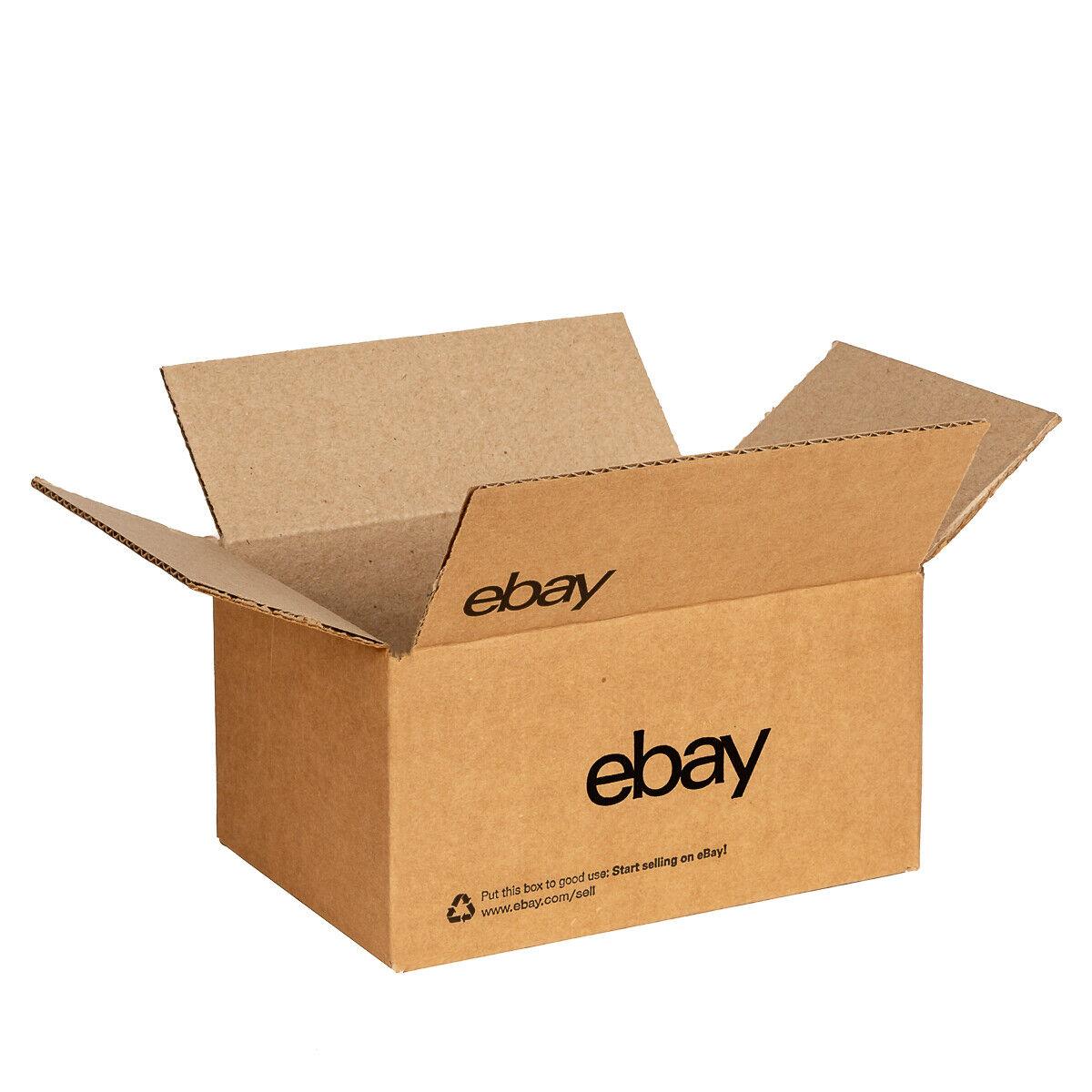 Ebay Branded Boxes With Black Color Logo 6 X 4 3 4 X 4 3 4 Ebay