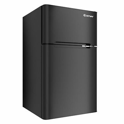 Stainless Steel Refrigerator Close-fisted Freezer Cooler Fridge Compact 3.2 cu ft. Unit