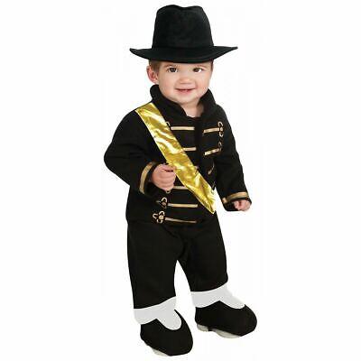 Michael Jackson Black Military Baby Costume 80s Pop Star Halloween Fancy Dress