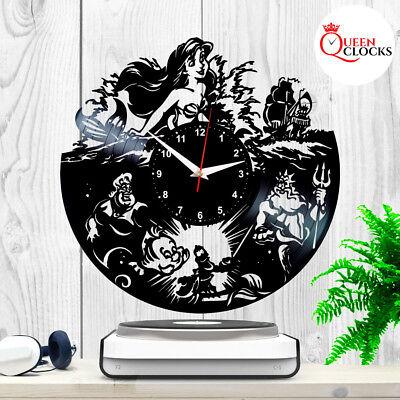 Disney The Little Mermaid Vinyl Record Wall Clock Room Decor Idea Birthday - Little Mermaid Birthday Ideas