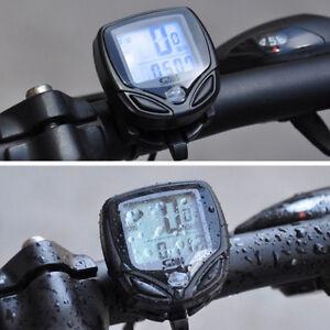 Waterproof Wireless LCD Digital Cycle Bike Bicycle Computer Speedometer Odometer