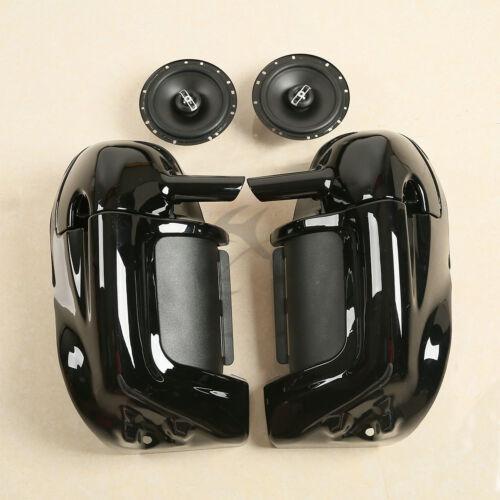 lower vented leg fairing 6 1 2 speakers box pods for harley road street glide ebay. Black Bedroom Furniture Sets. Home Design Ideas