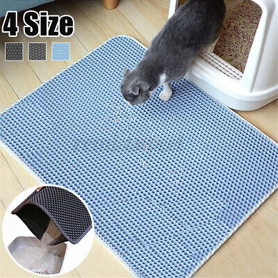 Cat litter Mat Double Layer Pad Trapper Foldable Pad Pet Rug