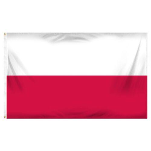 Poland Polish Polska Super-Polyester Economy Flag - 3