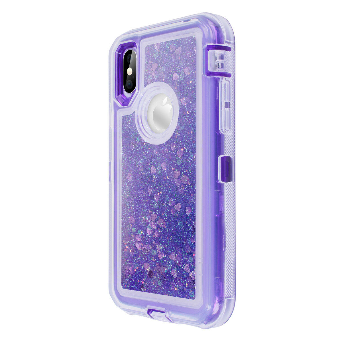 For iPhone 8 7 6 Plus XR XS Max X Glitter Liquid Shockproof Bling Quicksand Case