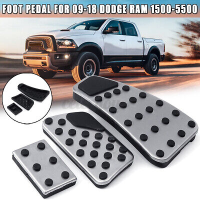 US Set Fit For Dodge Ram 1500-5500 Gas + Brake + Clutch Foot Pedal Cover Kit New