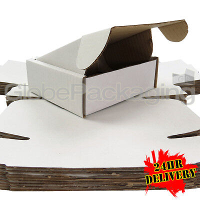 20 x White Postal Mailing Gift Shipping Cartons Boxes 140x130x50mm (5.5x5x2
