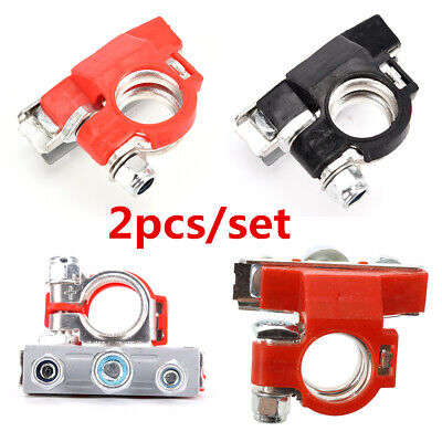 2Pc Pure Copper Battery Terminal Heavy Duty Car Quick Connector Cable Clamp Clip Battery Heavy Duty Car Charger