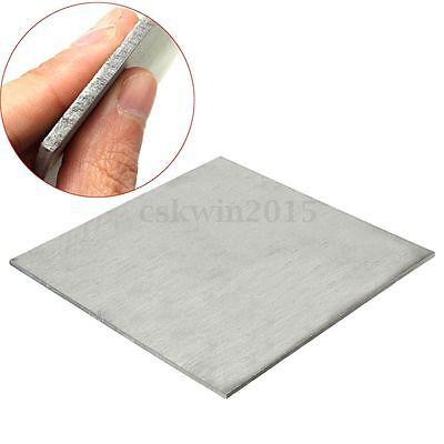 3mm Thick Titanium 6al-4v Sheet .125 X 6 X 6 Grade 5 Plate Ti Gr5 Metal