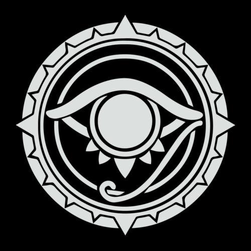 All Seeing Eye Round Masonic Vinyl Decal - White 6 Inch