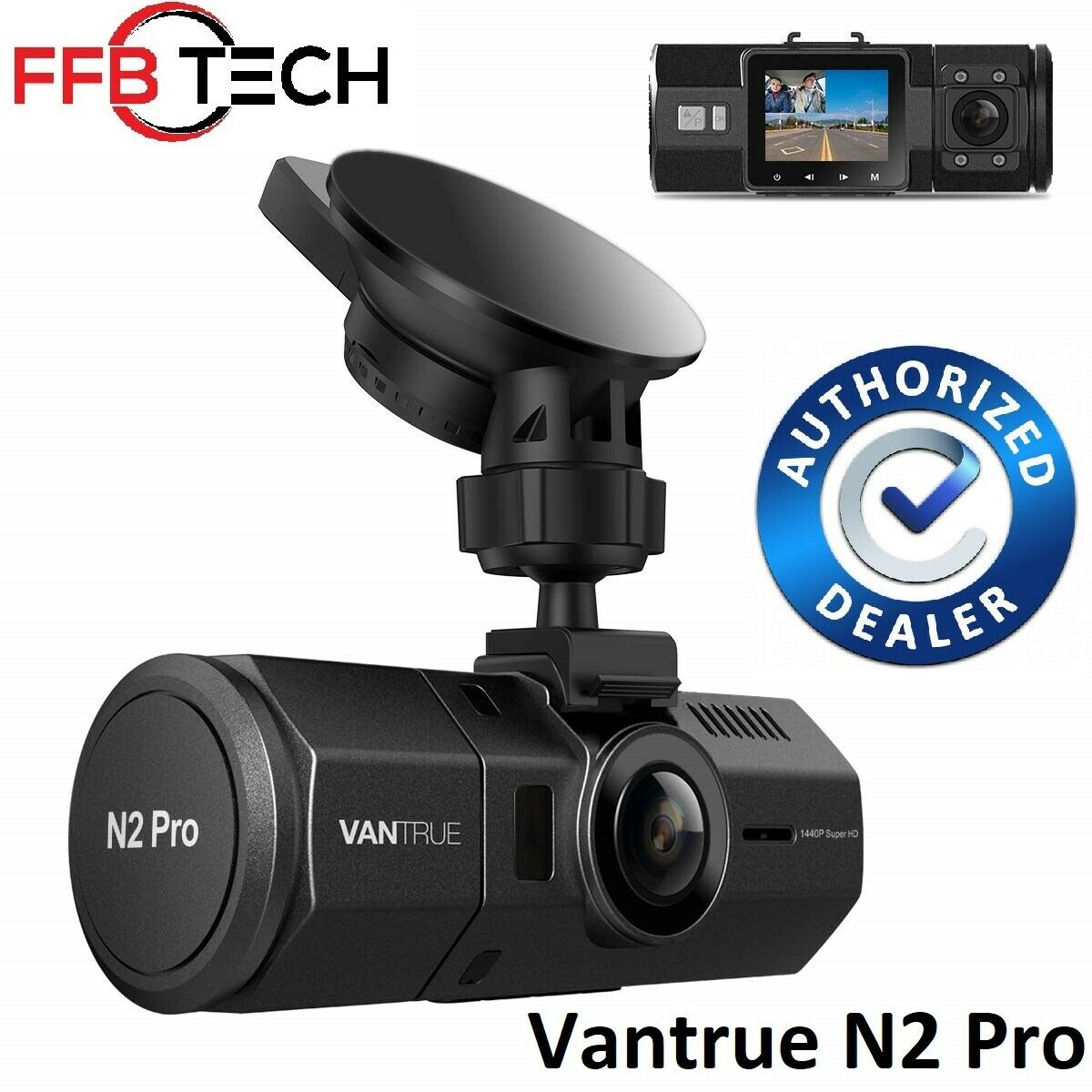 Vantrue N2 Pro Front & Back Wide Angle Dual Dash Cam Dashboa