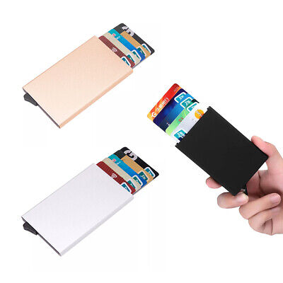 Men Credit Card Holder RFID Blocking ID Card Case Slim Money Travel Wallet Gift Billfold Credit Card Holders