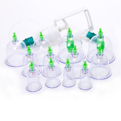 Schröpfen 12 Schröpfglas Pumpe Vakuum Massage Akupunktur Cupping SET