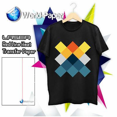 Heat Press Laser Printer Transfer Paper For Dark 8.5 X 11 50 Pk Rl