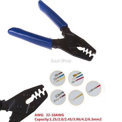 (Molex Style Crimp Tool Wiring Harness Crimping Crimper Open Barrel 10-22 AWG)