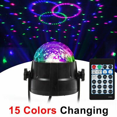LED Stage Light Club RGB Rotating Disco Party DJ Decor Projector Light+Remote