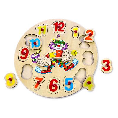Lernuhr Kinder Uhr lernen Puzzle Lernspiel Holz Holzuhr Spiel Zahlen