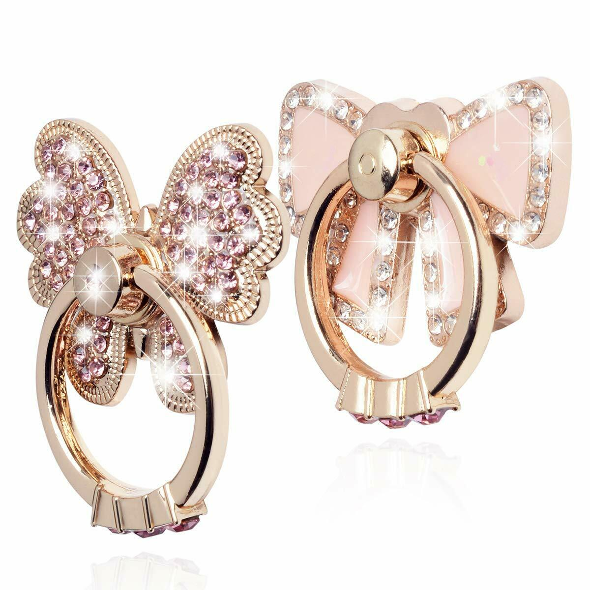 Rotating Finger Ring Stand Holder For Cell Phone iPhone Galaxy  Butterfly / Bow Cell Phone Accessories