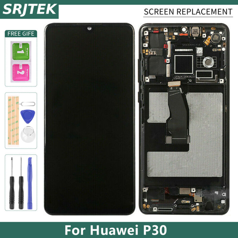 For Huawei P30 LCD Touch Screen Display Replacement Glass Sensor Panel Part Kits