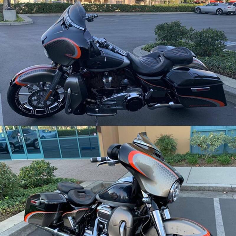 Schwarz Vorne Fahrer Sitz Für Harley CVO Street Glide 2015-2020 Road King 09-20