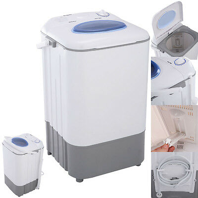 غسالة و مجفف ملابس جديد Manual Mini Portable Washing Machine Washer 7.7 lbs Single Tub Compact