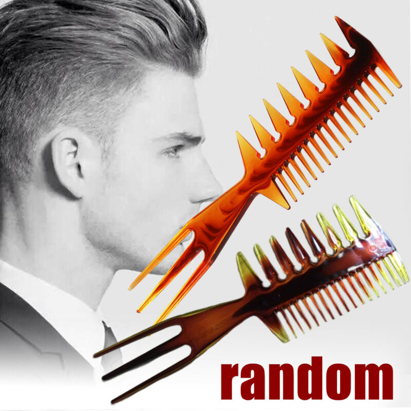 Mens 3 Way Large Tooth Detangle Comb Wide Teeth Pick Hair Co