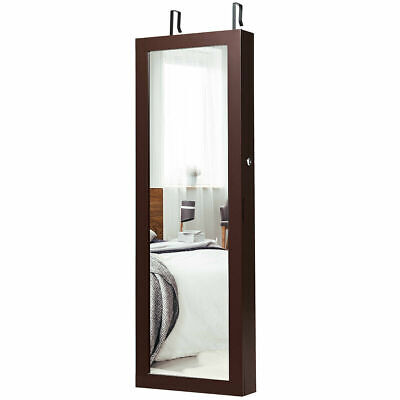 Jewelry Mirrored Cabinet Wall Mounted Box with LED Lights Br