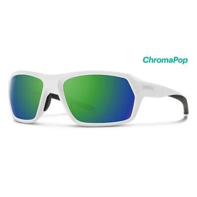Smith Rebound Sunglasses White ChromaPop Green (White Smith Sunglasses)