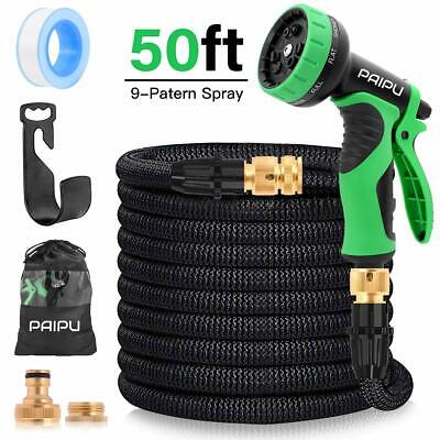 Garden Hose, 50FT Expandable Water Hose Flexible Magic Hose Pipe with 9 Function