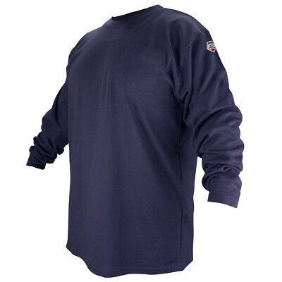 Black Stallion Ftl6-nvy Navy Flame Resistant Cotton Long-sleeve T-shirt - Large