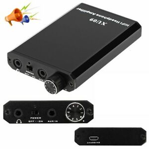 HiFi Audio Headphone Amplifier Earphone AMP MP3 PC Phone Stereo Music Improver