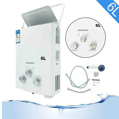 6l Propane Gas Lpg Portable Tankless Hot Water Heater For Outdoor Camping Shower
