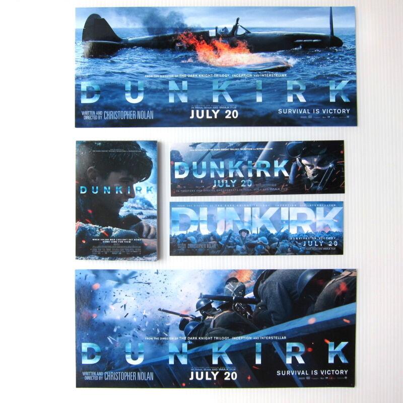 DUNKIRK Movie -Official Studio Promo Bookmark +Sticker +Memo Pad Lot NOLAN Prop
