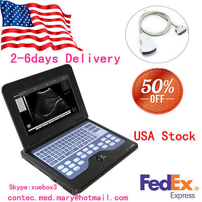Portable Laptop Machine Digital Ultrasound Scanner 3.5m Convex Probeus Fedex