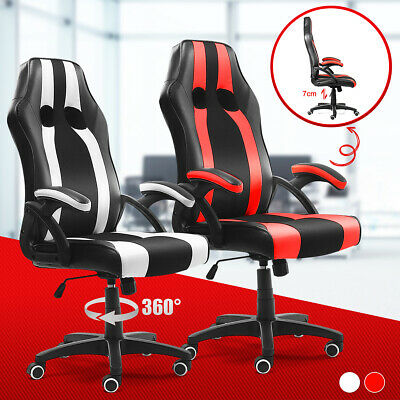 High Back Executive Office Chair Ergonomic Computer Racing Leather Gaming Chairs