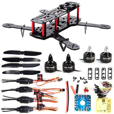 DIY Carbon Fiber Mini 250 FPV Quadcopter Frame  Motor ESC Flight Control RC001