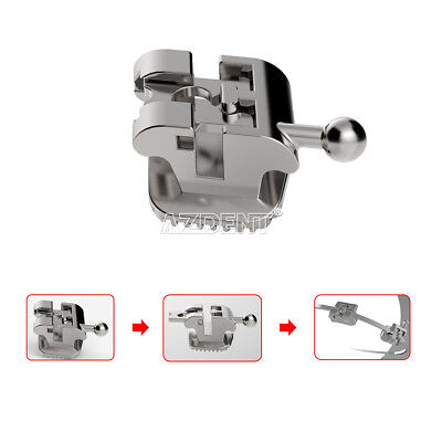 Azdent Dental Brackets Orthodontic Roth.022 Passive Self-ligating Hooks 3-4-5