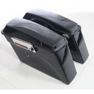 Painted Hard Saddlebags W/Hardware Set For Harley Touring Street Glide 94-13 12