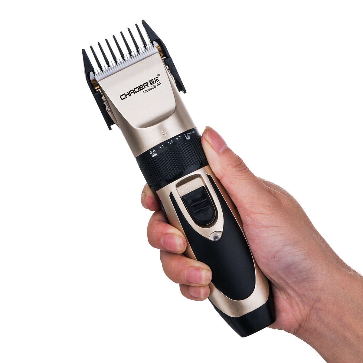 Rechargeable Men Hair Clippers Professional Cordless Trimmers Barber Haircut kit 10