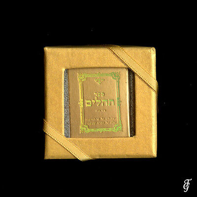 ~ JUDAICA TEHILIM /REAL HOLY BOOK MINIATURE  GOLD / 10 V