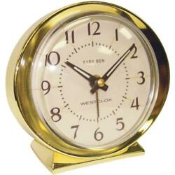Westclox Baby Ben Gold Classic Style Battery Operated Alarm Clock 11605QA  - 1